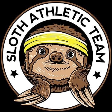 Sloth Athletic Team Slow Sleepy Animals T Shirt by WWB2017