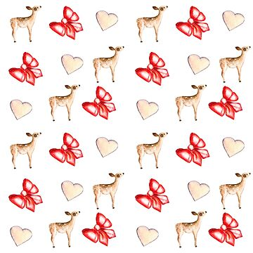 christmas deer and hearts by ArtOlB