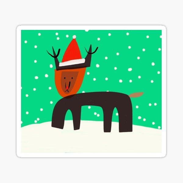Holideer the Red-Nosed Reindeer  Sticker