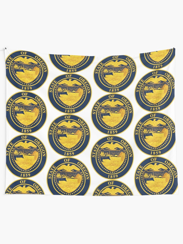 Oregon State Seal Tapestry By Tonbbo Redbubble