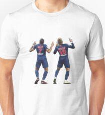 Kylian Mbappe & Neymar Jr | PSG Celebration Illustration Design Unisex T-Shirt