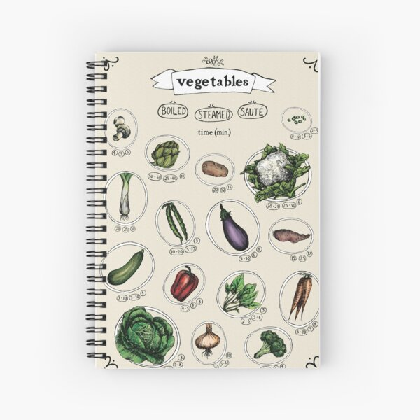 Vegetables Cooking Time Spiral Notebook