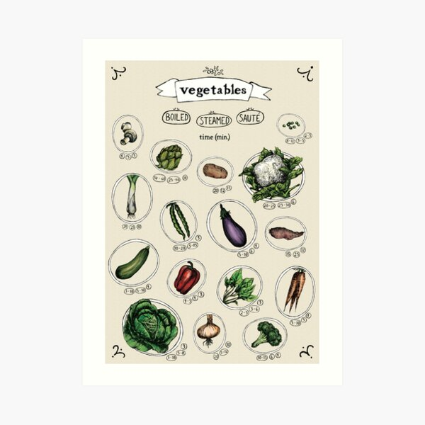 Vegetables Cooking Time Art Print