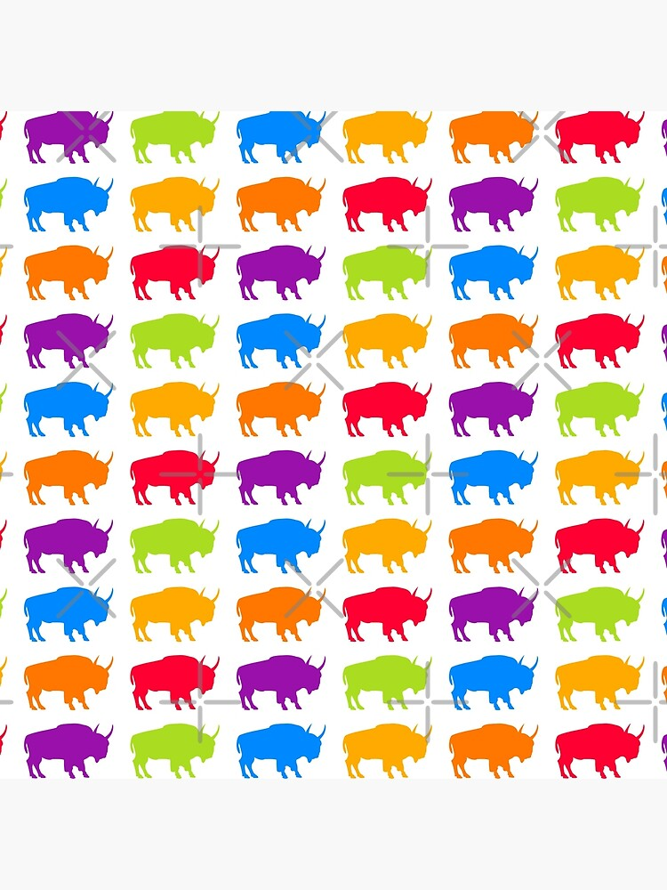 colorful buffalo pattern by PlantVictorious