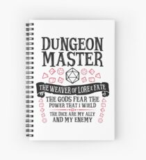 Cuaderno de espiral Dungeon Master, The Weaver of Lore & Fate - Dungeons & Dragons (Texto negro)