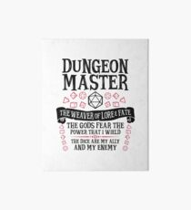 Dungeon Master, The Weaver of Lore & Fate - Dungeons & Dragons (Black Text) Art Board