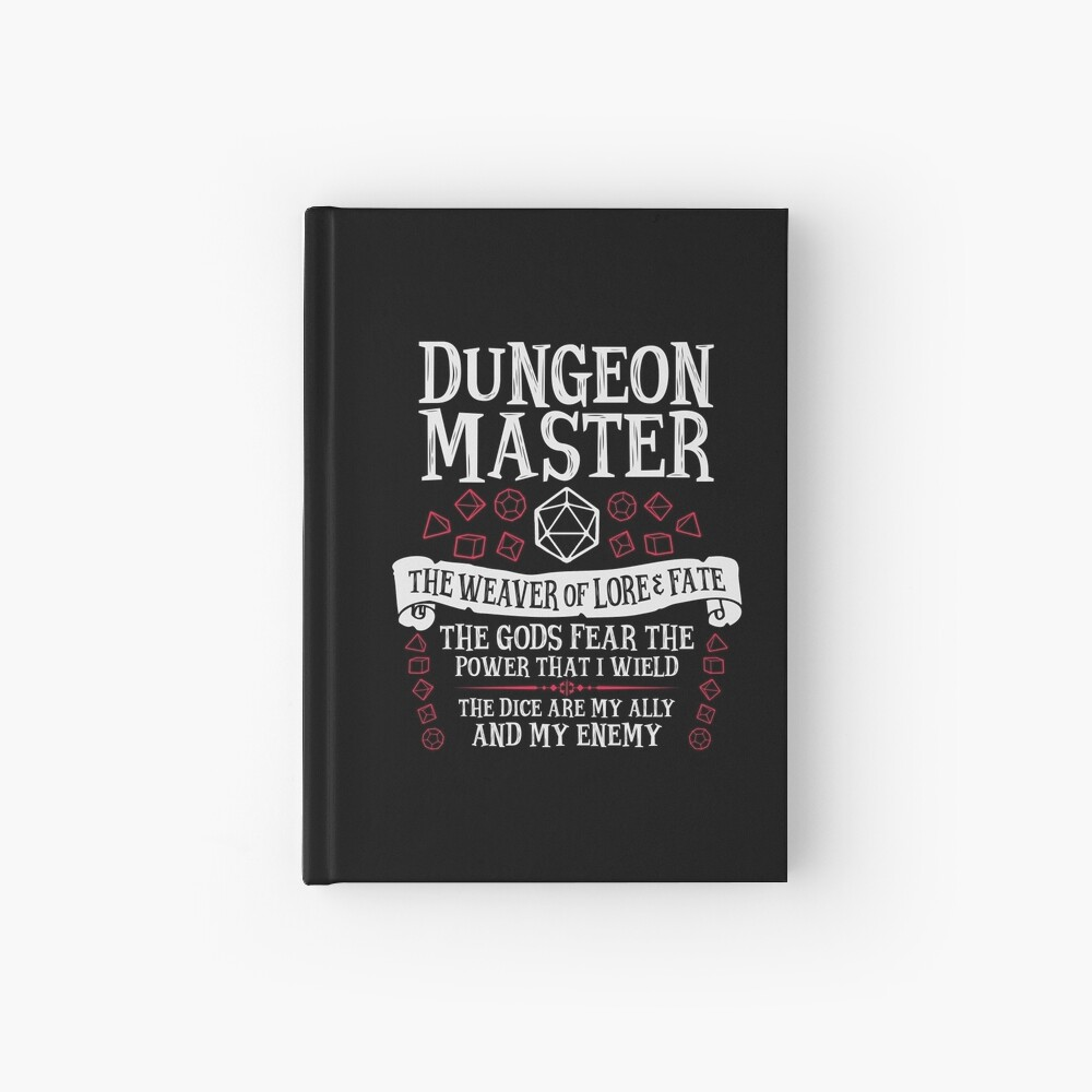 Dungeon Master, The Weaver of Lore & Fate - Dungeons & Dragons (White Text) Hardcover Journal