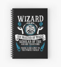 Cuaderno de espiral WIZARD, The Master of Magic - Dungeons & Dragons (Texto blanco)