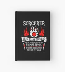 Cuaderno de tapa dura SORCERER, The Arcanne-Touched - Dungeons & Dragons (Texto blanco)