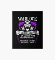 WARLOCK, THE SWORN AND BEHOLDEN - Dungeons & Dragons (White Text) Art Board