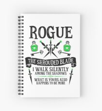ROGUE, THE SHROUDED BLADE - Dungeons & Dragons (Black Text) Spiral Notebook