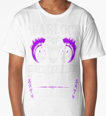 WARLOCK, THE SWORN AND BEHOLDEN - Dungeons & Dragons (White Text) Long T-Shirt