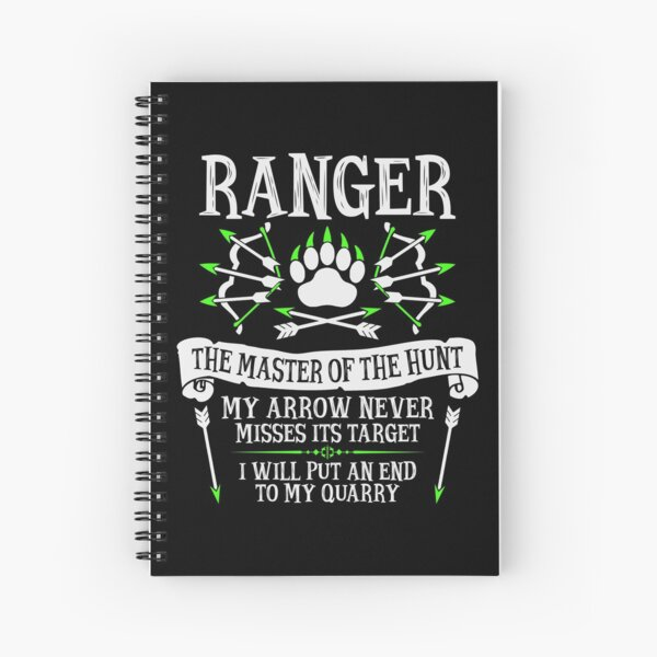 RANGER, The Master of the Hunt - Dungeons & Dragons (White Text) Spiral Notebook