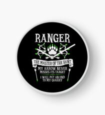 RANGER, The Master of the Hunt - Dungeons & Dragons (White Text) Clock