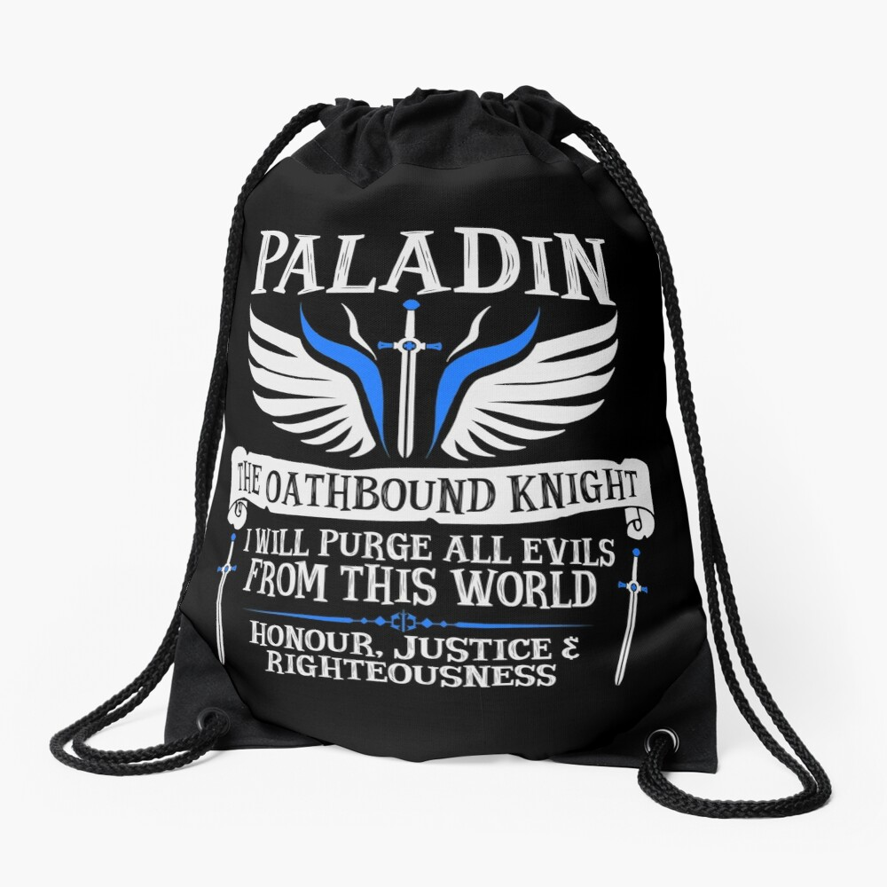 PALADIN, THE OATHBOUND KNIGHT- Dungeons & Dragons (White) Drawstring Bag