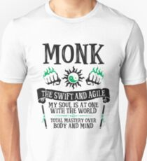 MONK, THE SWIFT AND AGILE - Dungeons & Dragons (Black) Unisex T-Shirt