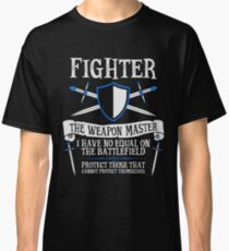 FIGHTER, THE WEAPON MASTER - Dungeons & Dragons (Black) Classic T-Shirt