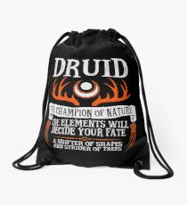DRUID, THE CHAMPION OF NATURE - Dungeons & Dragons (Black) Drawstring Bag