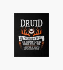 DRUID, THE CHAMPION OF NATURE - Dungeons & Dragons (Black) Art Board