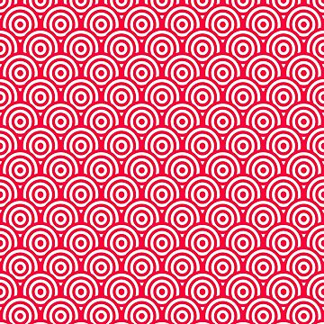 Red/Pink & White Geometric Circle Pattern by quarantine81