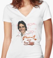 Hold me closer Tony Danza Women's Fitted V-Neck T-Shirt