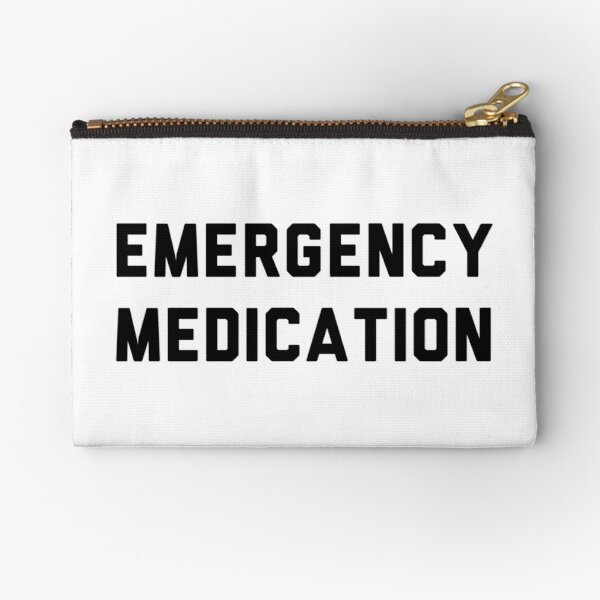 Emergency medication pouch Zipper Pouch