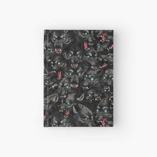 Wolf Pack Pattern Hardcover Journal