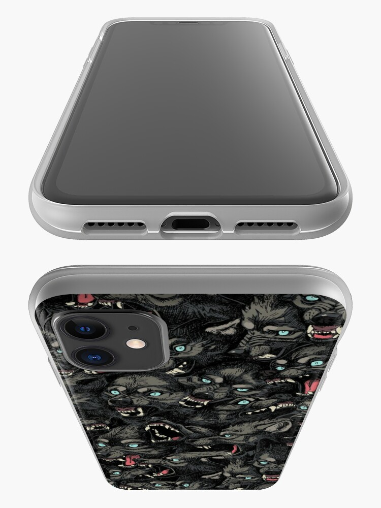 Alternate view of Wolf Pack Pattern iPhone Case & Cover