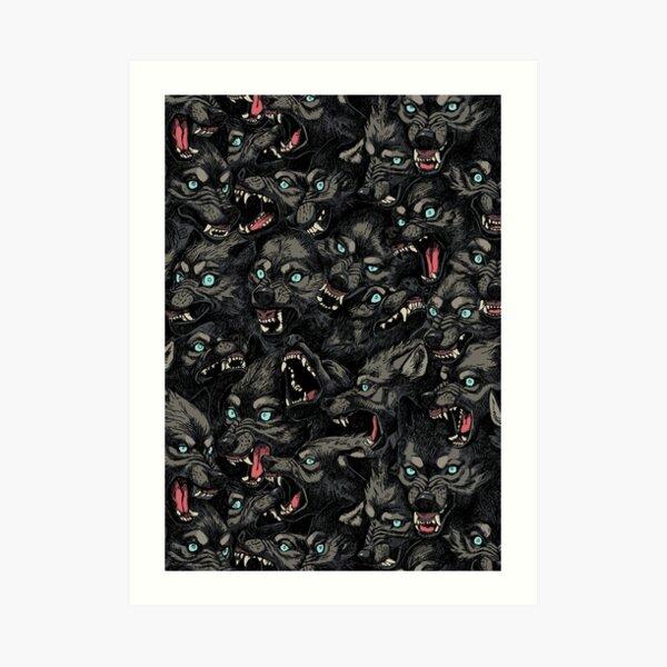 Wolf Pack Pattern Art Print