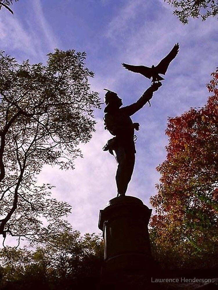 The Falconer at Central Park by Lawrence Henderson