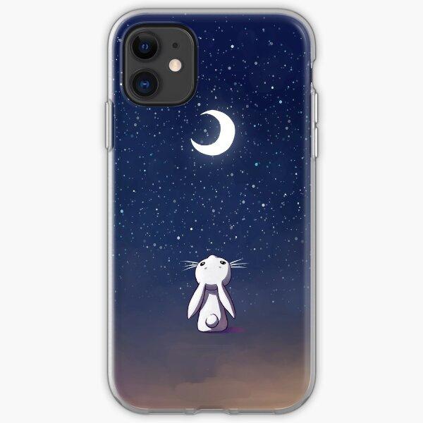 Moon Bunny iPhone Soft Case