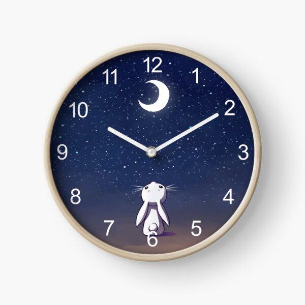 Moon Bunny Clock