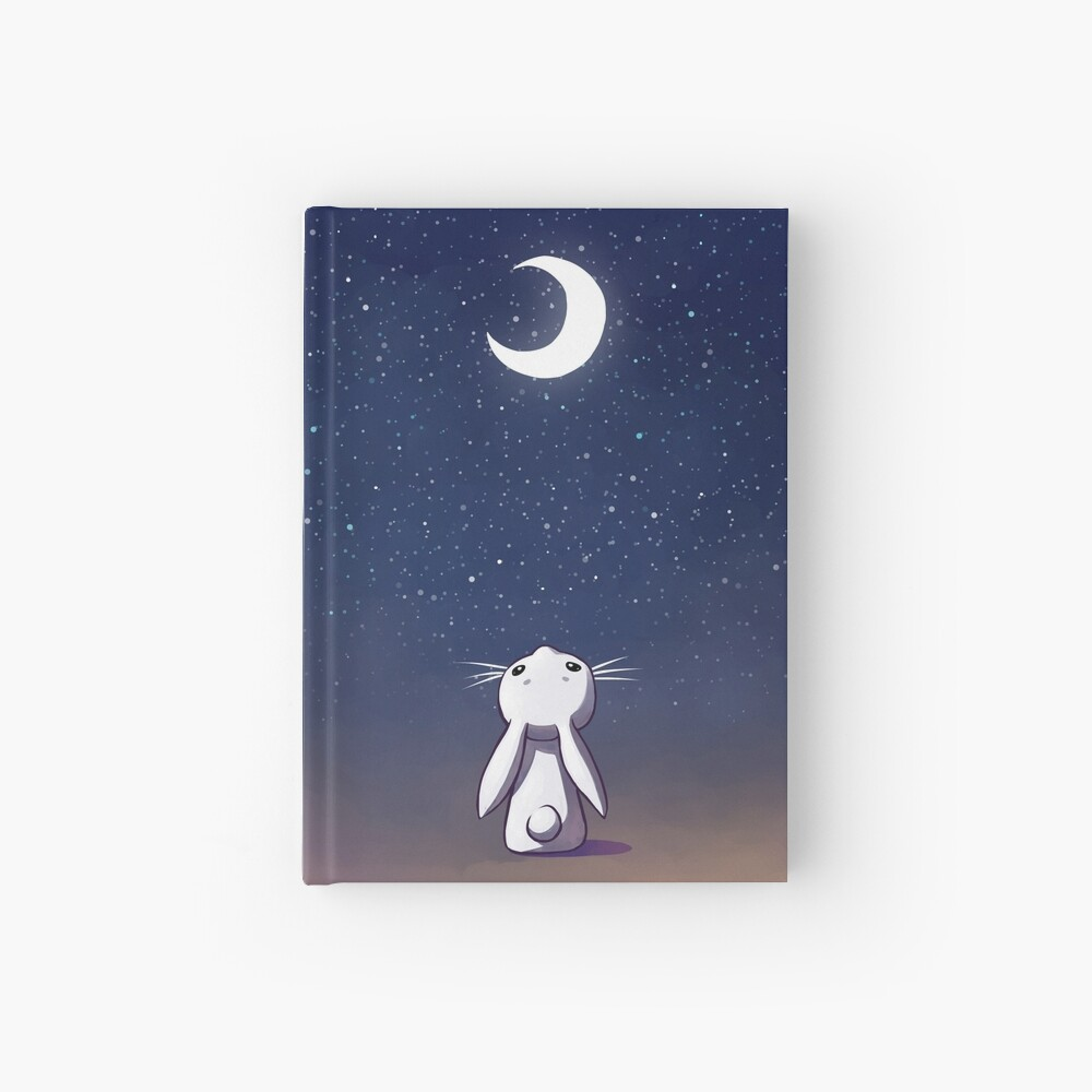Moon Bunny Hardcover Journal