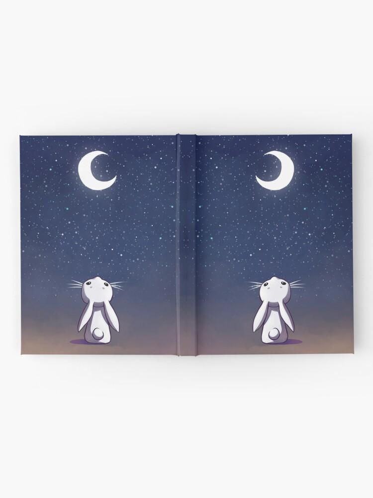Alternative Ansicht von Mondhase Notizbuch