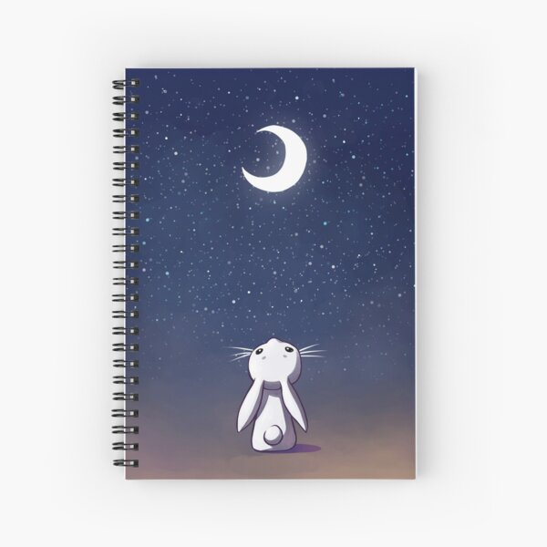Moon Bunny Spiral Notebook
