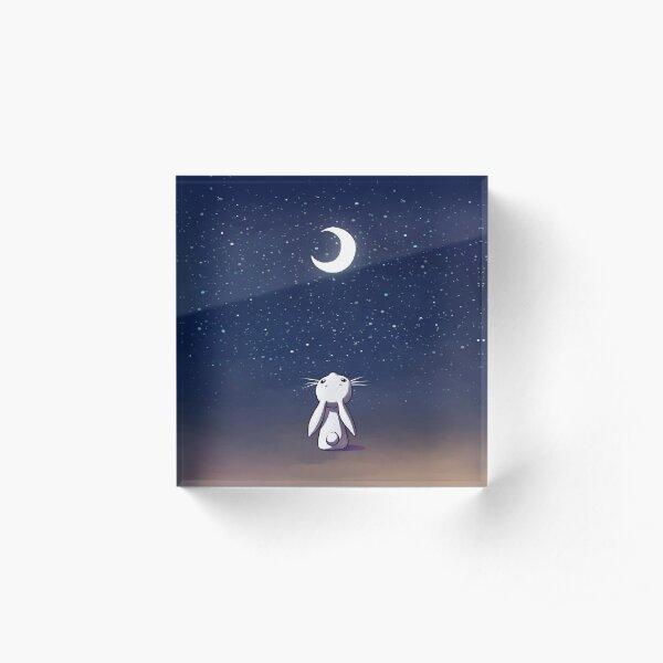 Moon Bunny Acrylic Block