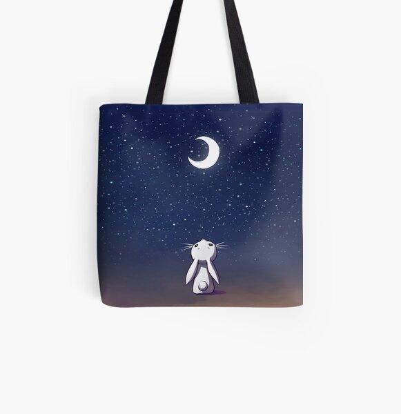 Moon Bunny All Over Print Tote Bag