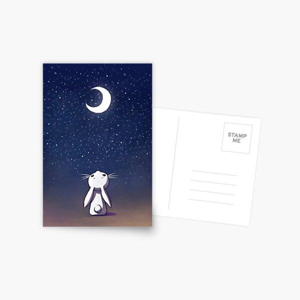 Moon Bunny Postcard