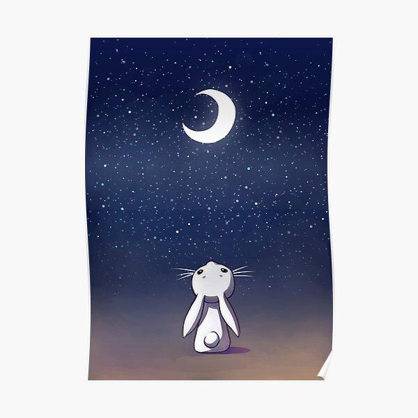 Moon Bunny Poster