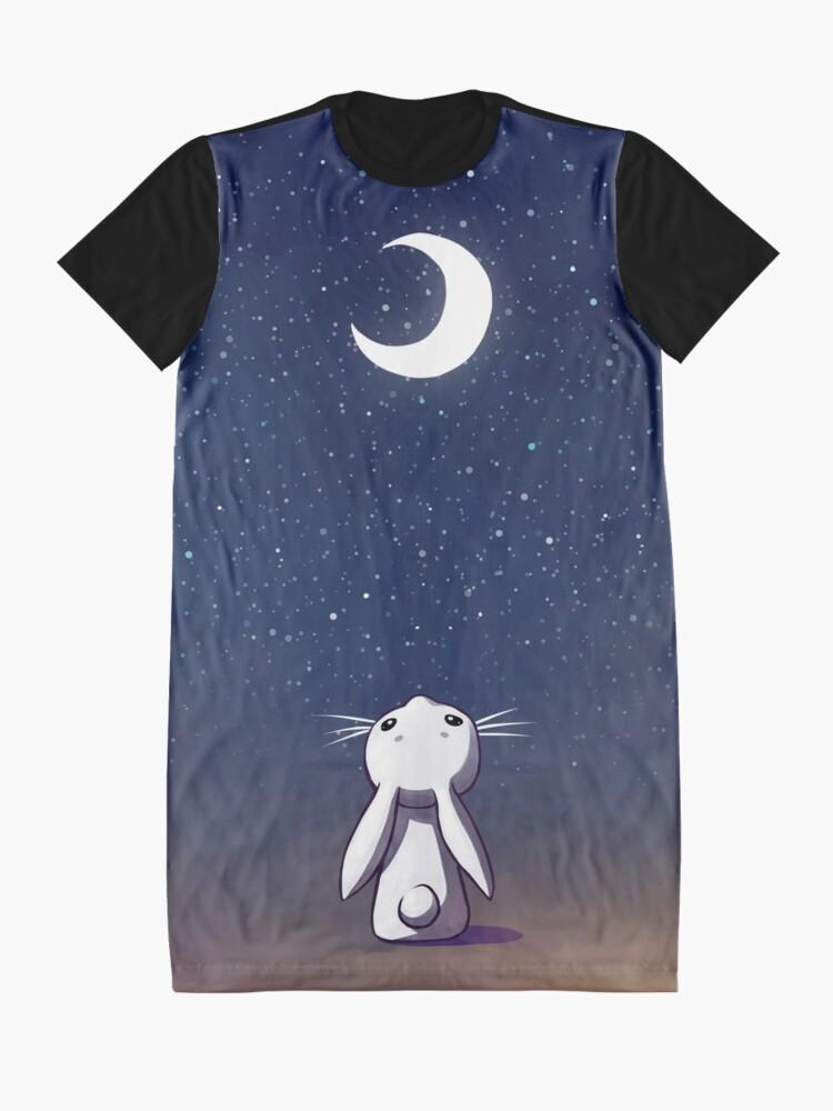 Vista alternativa de Vestido camiseta Moon Bunny