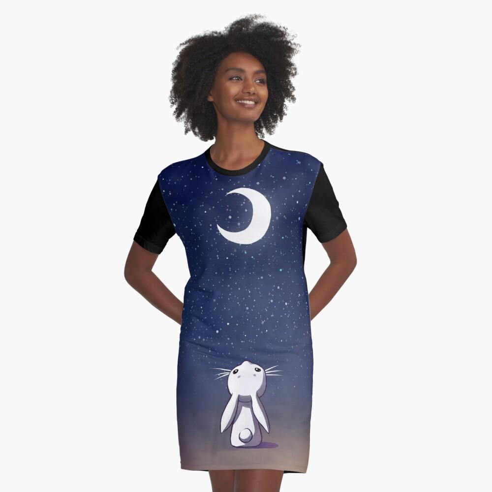 Moon Bunny Vestido camiseta