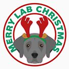 Merry Christmas Black Lab by CafePretzel