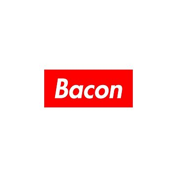 Bacon - Supreme Logo by lurchmerch
