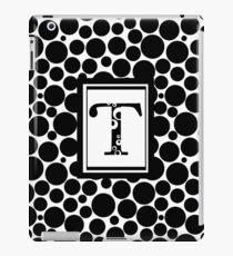 Black & White Bubble T iPad Case/Skin
