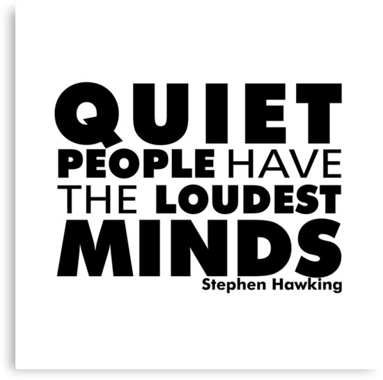 Quiet People have the Loudest Minds | Typography Introvert Quotes White Version by Menega  Sabidussi