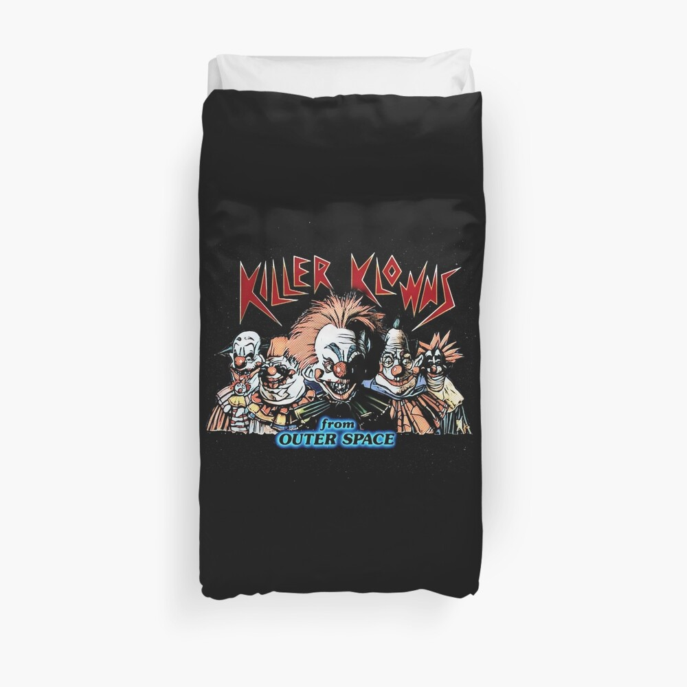 Killer klowns from outerspace Duvet Cover