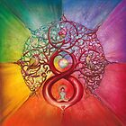 """Heart of Infinity"" - Mandala of Wealth and Balance by Anna Miarczynska"