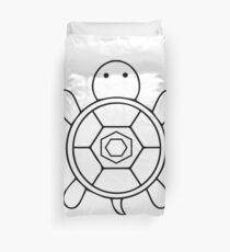 Turtle from above as a gift Duvet Cover