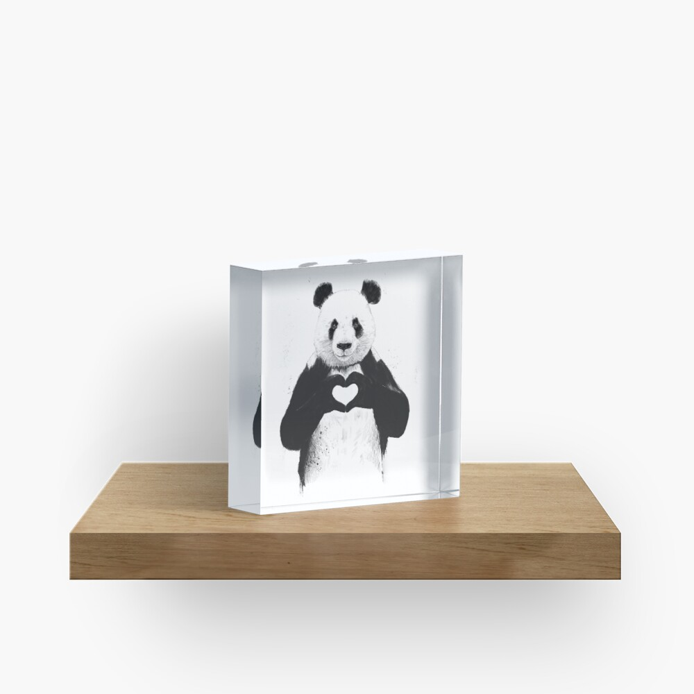All you need is love Acrylic Block