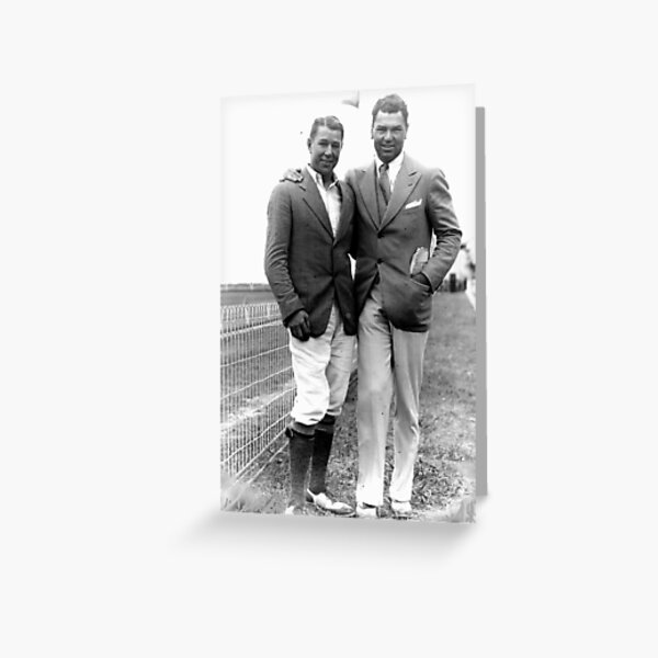 Pat MCarthy with Jack Dempsey (1920 or so) Greeting Card